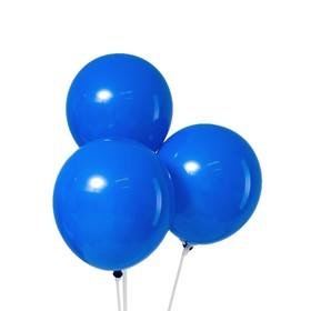 """Шар латексный 12"""", пастель, набор 5 шт., цвет синий"""