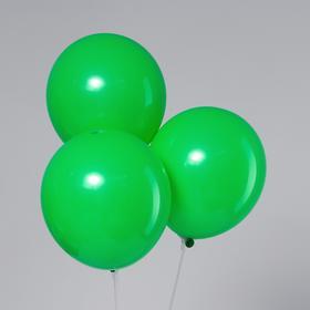 """Шар латексный 12"""", пастель, набор 5 шт., цвет зелёный"""