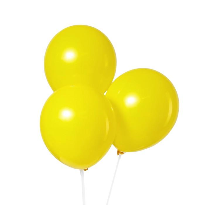 Шар латексный 12, пастель, набор 5 шт., цвет жёлтый