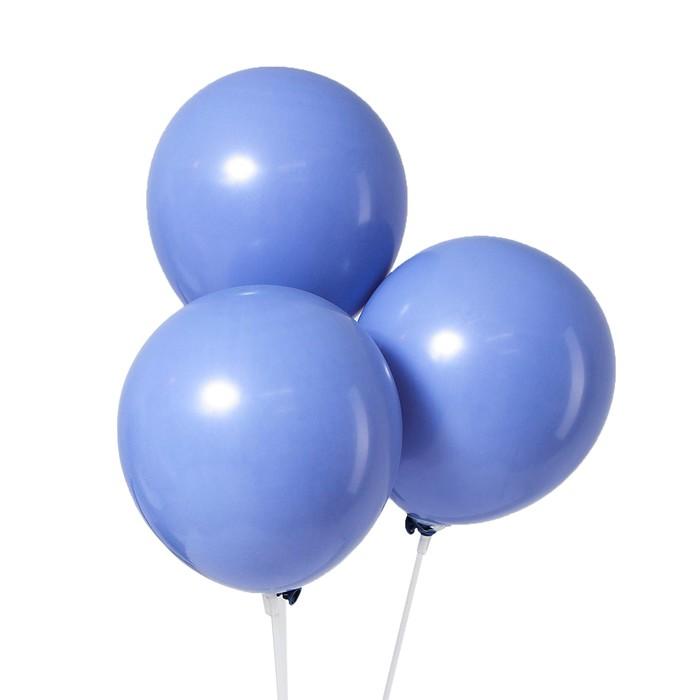 Шар латексный 12 Макарун, набор 5 шт., цвет синий