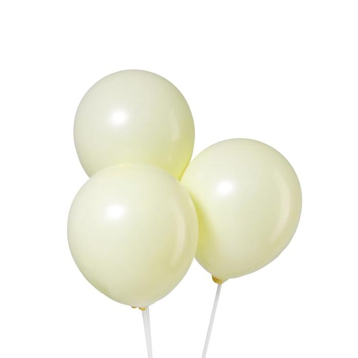 Шар латексный 12 Макарун, набор 5 шт., цвет жёлтый