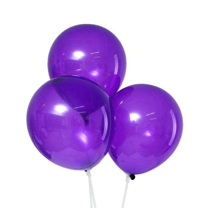 Шар латексный 10, пастель, набор 5 шт., цвет фиолетовый