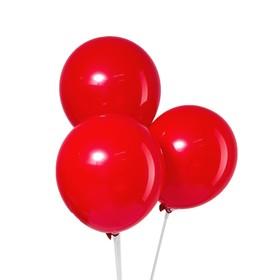 """Шар латексный 10"""", пастель, набор 5 шт., цвет красный"""