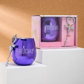 "Набор ""Friday"", стакан 400 мл, штопор"