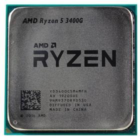 Процессор AMD Ryzen 5 3400G, AM4, 4х3.7ГГц, DDR4 2933МГц, RX Vega 11, TDP 65Вт, OEM