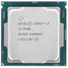 Процессор Intel Core i3 8100, LGA1151v2, 4x3.6ГГц, DDR4 2400МГц, UHD 630, TDP 65Вт, OEM