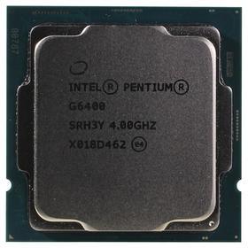 Процессор Intel Pentium Gold G6400 Original LGA1200, 2x4ГГц, 2666МГц, UHD610, TDP 58Вт, OEM   537359