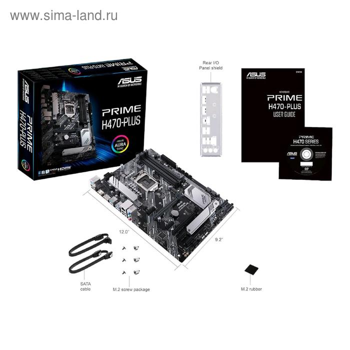 Материнская плата Asus PRIME H470-PLUS, LGA1200, H470, 4xDDR4, HDMI, DP, ATX