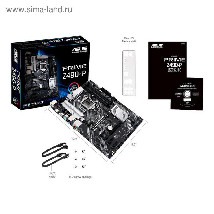Материнская плата Asus PRIME Z490-P, LGA1200, Z490, 4xDDR4, HDMI, DP, ATX