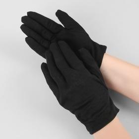 Перчатки хлопковые, размер M, пара, цвет чёрный Ош