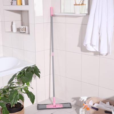 Швабра для мытья пола плоская с телескопической ручкой Raccoon, 40×14×90(120) см, микрофибра - Фото 1
