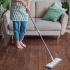 Швабра для мытья пола плоская с телескопической ручкой Raccoon, 40×14×90(120) см, микрофибра - Фото 10