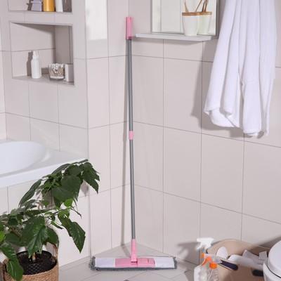 Швабра для мытья пола плоская с телескопической ручкой Raccoon «Букля», 40×14×90(120) см, микрофибра - Фото 1