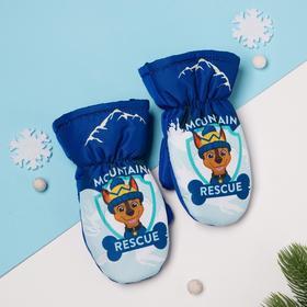 """Рукавицы (варежки) зимние PAW PATROL """"Mountain"""" р-р 13 (3-4 года), синий"""