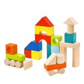 Конструктор «Городок» наполовину окрашенный, 27 элементов
