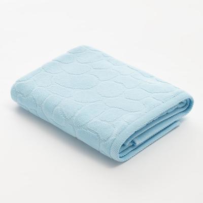 Полотенце махровое Этель Marble 50*90 см, цв. голубой 100% хл, 500 гр/м2 - Фото 1