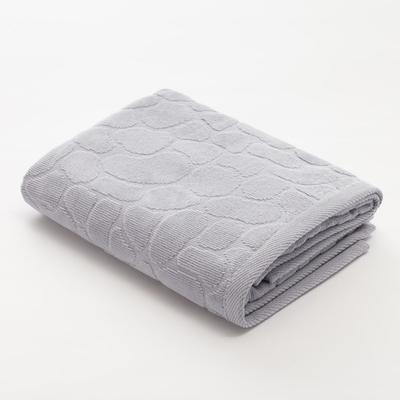 Полотенце махровое Этель Marble 50*90 см, цв. серый 100% хл, 500 гр/м2 - Фото 1