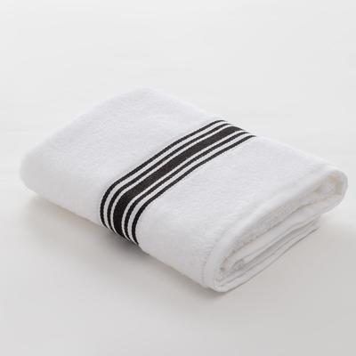 Полотенце махровое LoveLife «Полосы» 50*90 см, цв. черный 100% хл, 360 гр/м2 - Фото 1