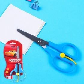 Ножницы детские 13 см, безопасные, пластиковые ручки с фиксатором, Тачки, МИКС Ош