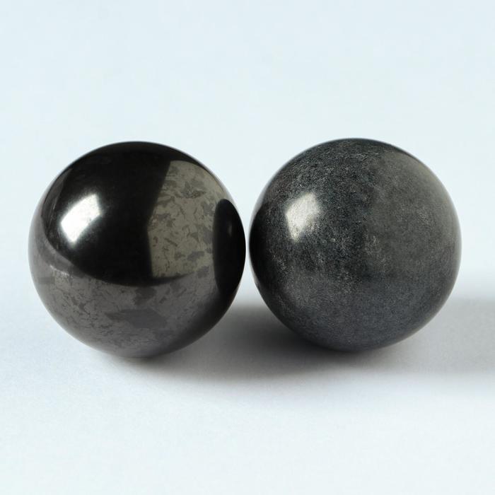 Шары гармонизаторы Шунгит-Талькохлорид, 4 см