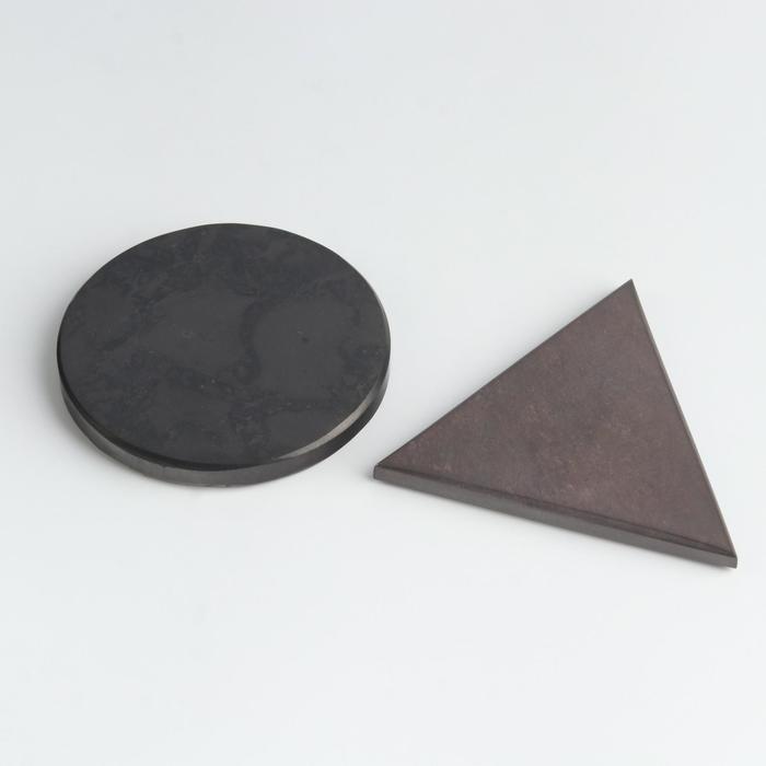 Карманные гармонизаторы Шунгит-Малиновый кварцит, полированные, 5 см
