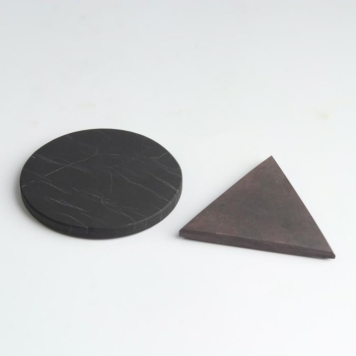 Карманные гармонизаторы Шунгит-Малиновый кварцит, неполированные, 5 см