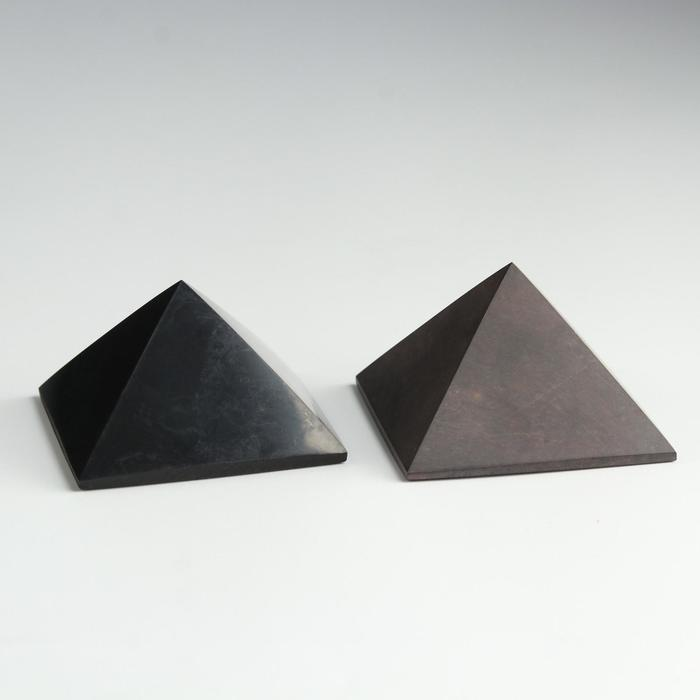 Пирамиды гармонизаторы Шунгит-Малиновый кварцит, 5 см