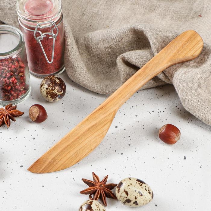 """Нож деревянный """"Славянский"""", 22 х 3 х 1,5 см, массив черешни"""