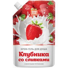 Крем-гель для душа Fresh Fruit «Клубника со сливками», дой-пак 200 мл