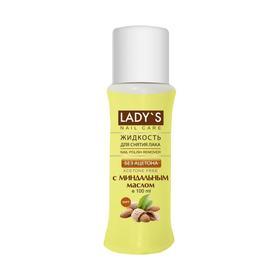 Жидкость для снятия лака Lady`s без ацетона, с миндальным маслом, 100 мл