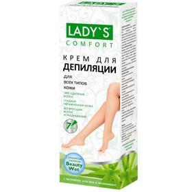 Крем для депиляции АртКолор Lady's «Алоэ Вера и витамин Е» для всех типов кожи, 100 мл