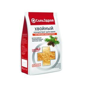 Соль-концентрат для ванн хвойный СольЗдрав Сбор №2, активация иммунитета, 800 г