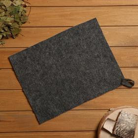 Коврик для бани и сауны, войлок серый, 30×40 см Ош