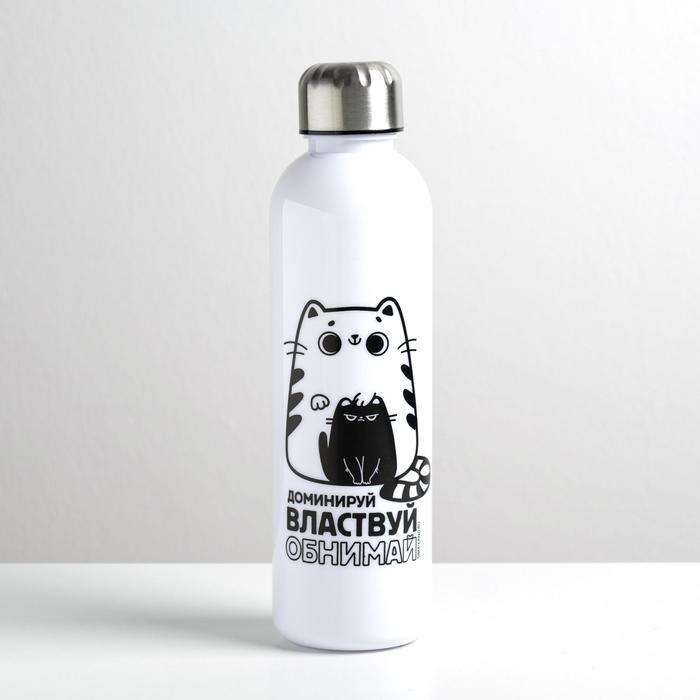 """Бутылка для воды """"Обнимай и властвуй"""", 700 мл"""