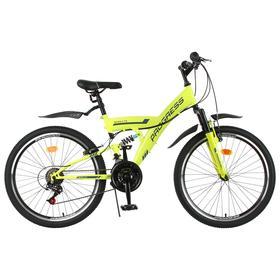 Велосипед 24' Progress модель Sierra FS RUS, цвет зеленый, размер 15' Ош