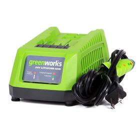 Зарядное устройство Greenworks G24C, 24 В, 2 Ач/30 мин, 4 Ач/60 мин, Li-ion, индикатор