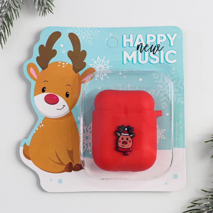 Чехол для наушников AirPods Happy music, 12 х12,8 см