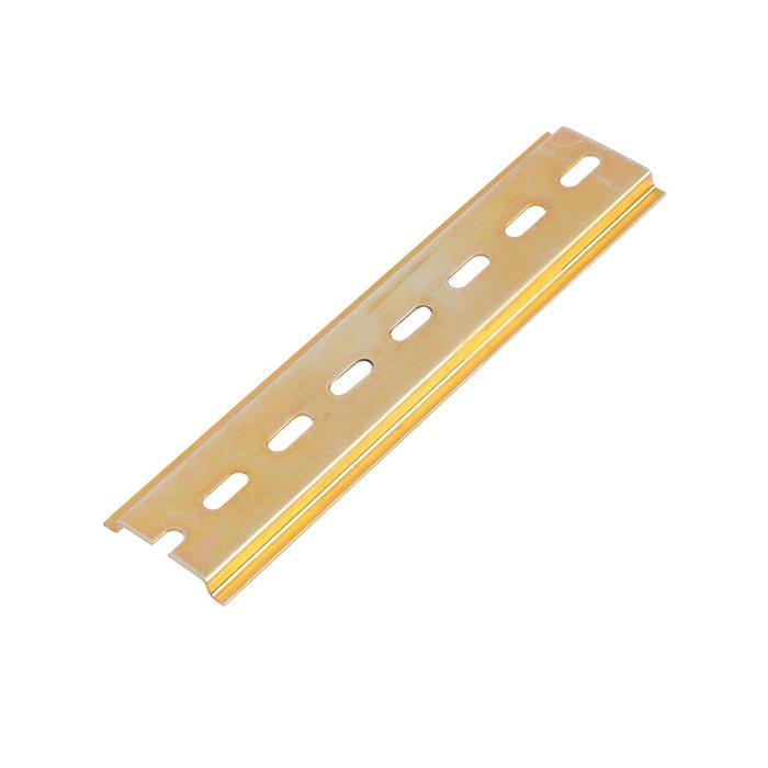 DIN-рейка TUNDRA, L 150, оцинкованная, цвет желтый, в упаковке 1 шт.