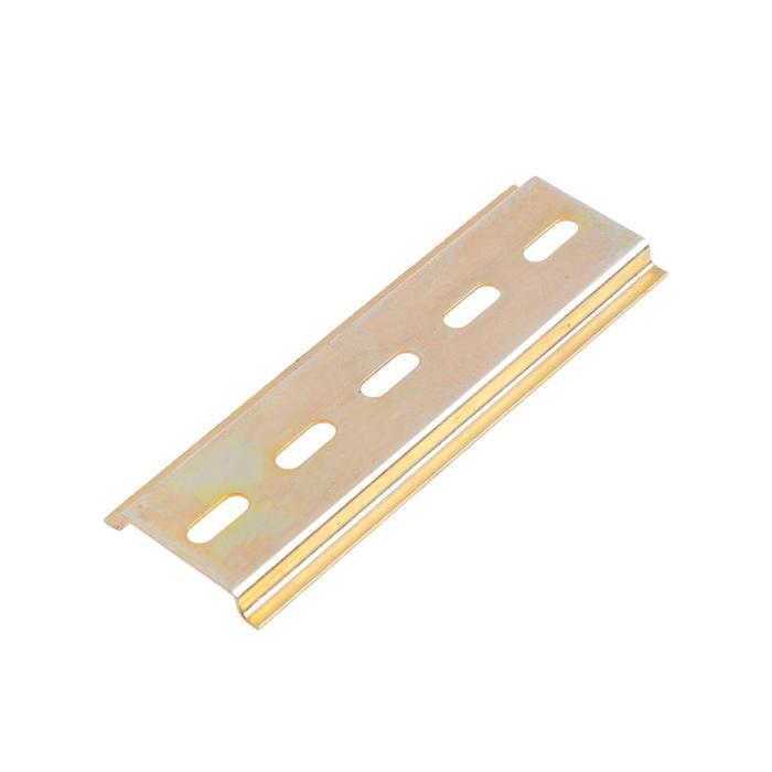 DIN-рейка TUNDRA, L 100, оцинкованная, цвет желтый, в упаковке 1 шт.