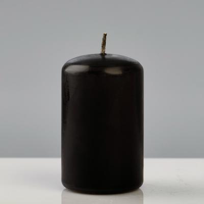 """Свеча - цилиндр """"Колор"""", 5×8 см, чёрный"""