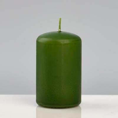 """Свеча - цилиндр """"Колор"""", 5×8 см, зелёный"""