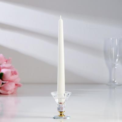 Свечи античные лакированные №40, 2,2×23 см, белый