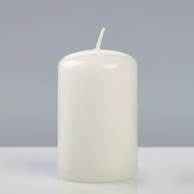 Свеча - цилиндр лакированная, 5×8 см, белая