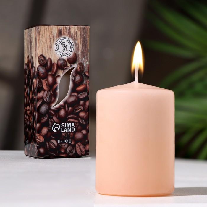 """Свеча ароматическая """"Кофе """", 4×6 см, в коробке"""