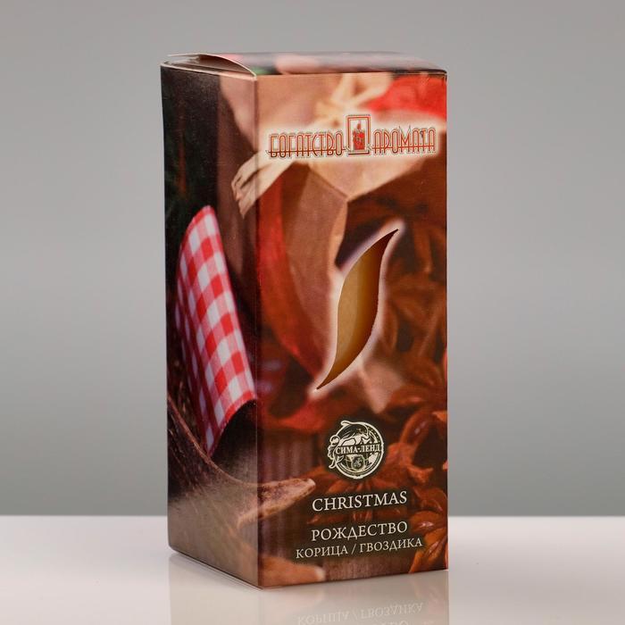 """Свеча ароматическая """"Рождество"""", 4×6 см, в коробке"""