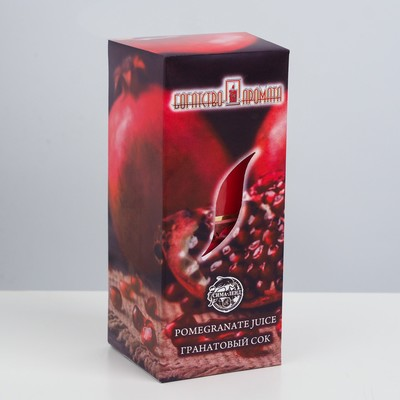"""Свеча ароматическая """"Гранатовый сок"""", 4×6 см, в коробке - Фото 1"""