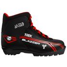 Ботинки лыжные TREK Blazzer NNN ИК, цвет чёрный, лого красный, размер 41