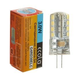 Лампа светодиодная Ecola Corn Micro, G4, 3 Вт, 6400 К, 320°, 220 В, 40х15 мм