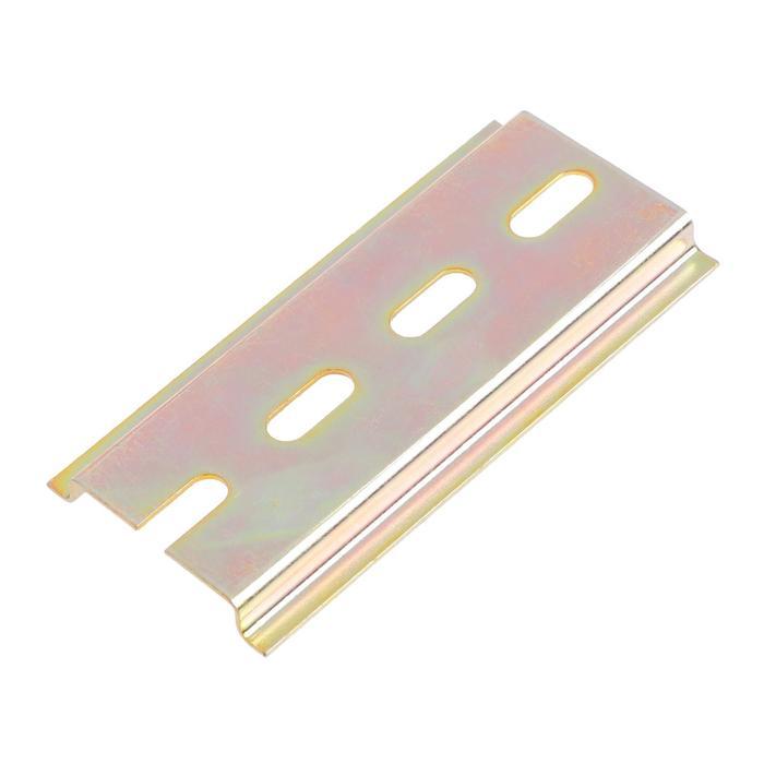 DIN-рейка TUNDRA, L 75, оцинкованная, цвет желтый, в упаковке 1 шт.