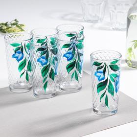 Набор стаканов GiDGLASS «Колокольчки», 230 мл, 6 шт, в подарочной упаковке, МИКС
